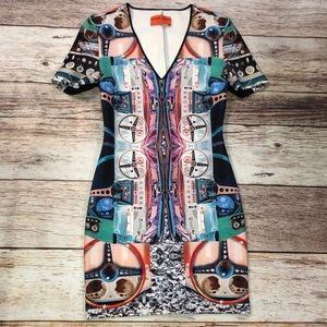 Clover Canyon Graphic Print dress Size M NWOT